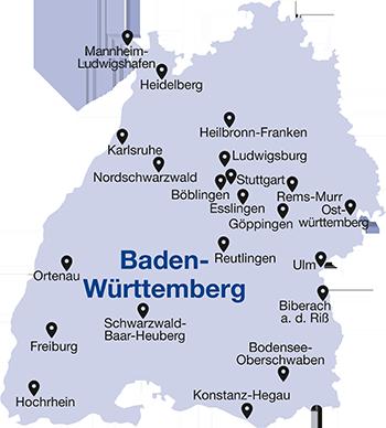 Region Heilbronn Franken Karte.Kreise Wirtschaftsjunioren Baden Württemberg